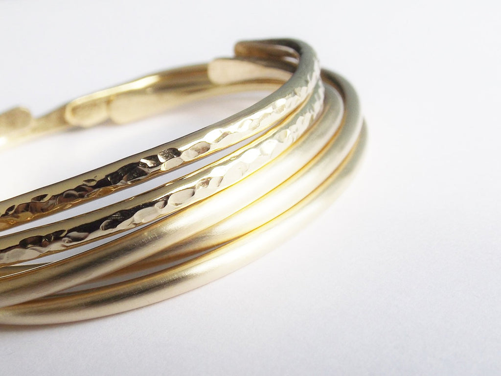 Thick Gold Cuffs,Bangle Bracelet Cuff Set, Boho Bracelets, Simple & Exotic Jewelry, Boho Jewelry, Boho Cuff Bracelet