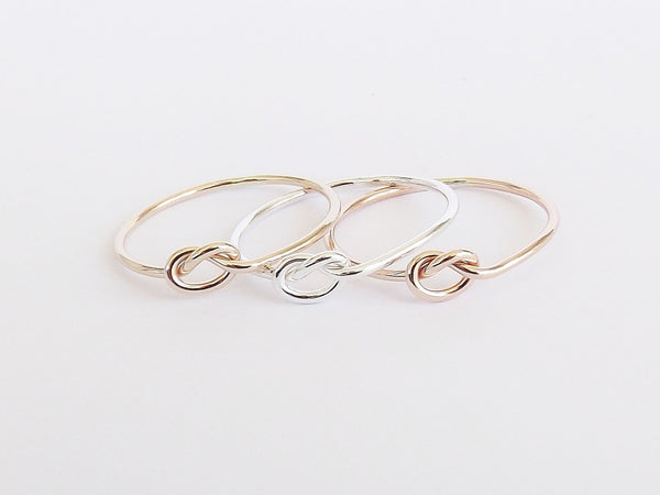 Knot Ring,Tie the Knot Ring,Eternity Ring,Forever Ring,Bridesmaids Rings,Best Friend Rings,Unique Rings,Knot,Handmade,Customizable Rings