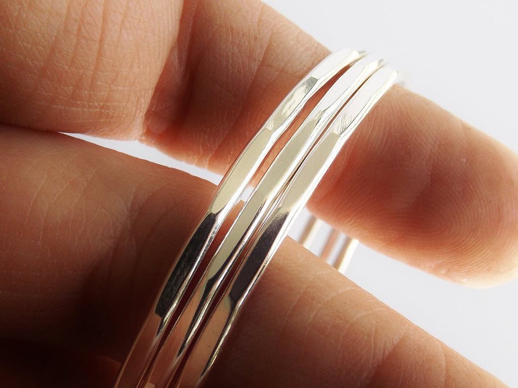 Hammered Bangle Set, Bangle Bracelets, Boho Bracelets, Boho Jewelry, Boho Bangle Bracelet, Textured Bangles, Modern, Sleek, Stacker
