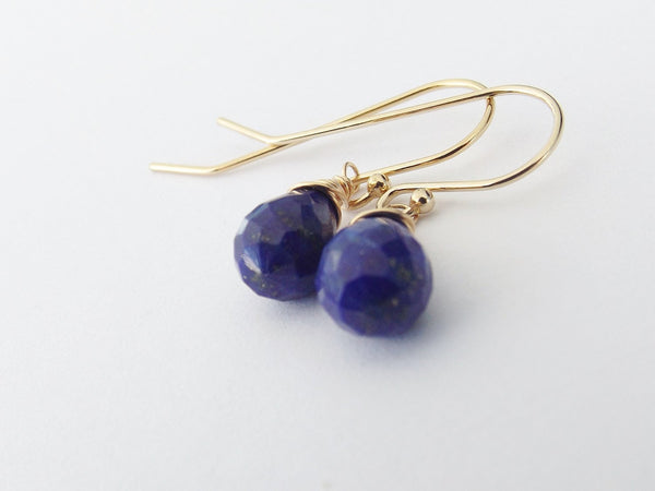 Lapis Lazuli,Gold Earrings,Lapis Earrings,Simple Earrings,Everday Earring,Gemstone Jewelry,Briolette Earrings,Lapis Lazuli Earrings,Gemstone