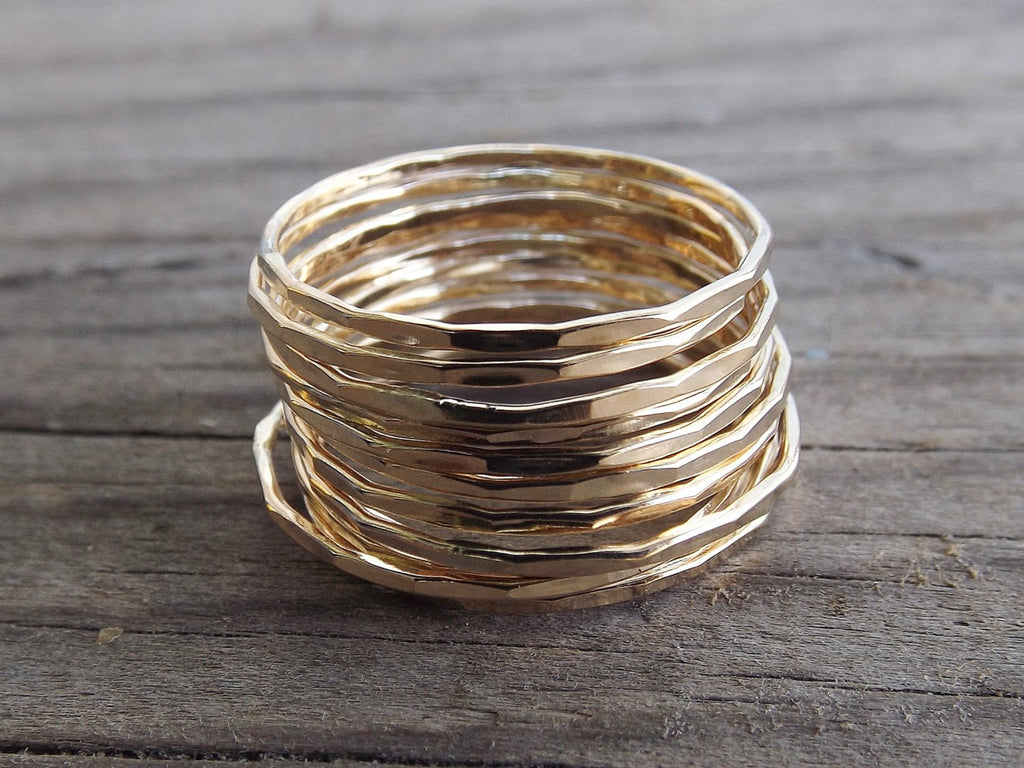 12 Super Skinny Stacking Rings Set,Edge Textured Ring Set,Ring Set,Textured Rings,Boho Stacking Rings,Minimalist,Modern,Skinny Ring,Gift