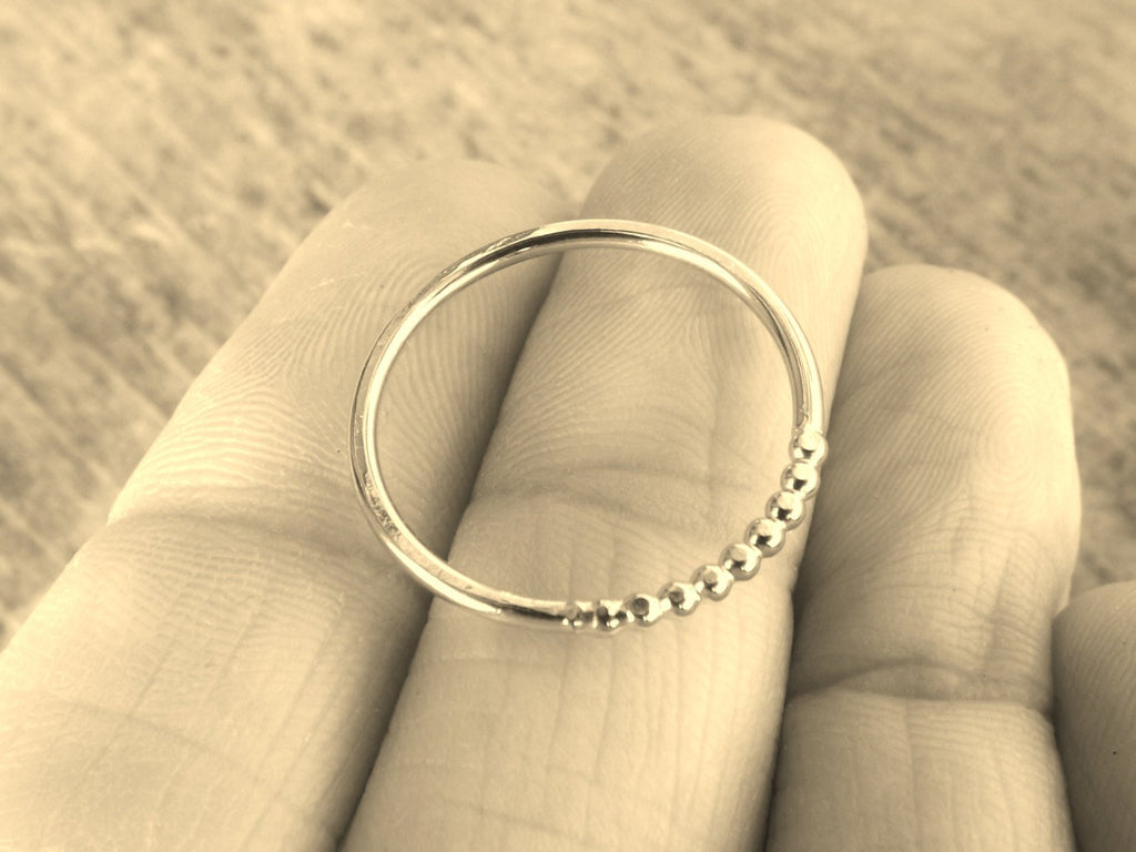 Beaded Ring,Modern Ring,Unique Ring,Boho Ring,Thumb Ring,Simple Ring,Stacking Ring,Minimalist Ring,Contemporary Ring,Everyday,Chic,Style