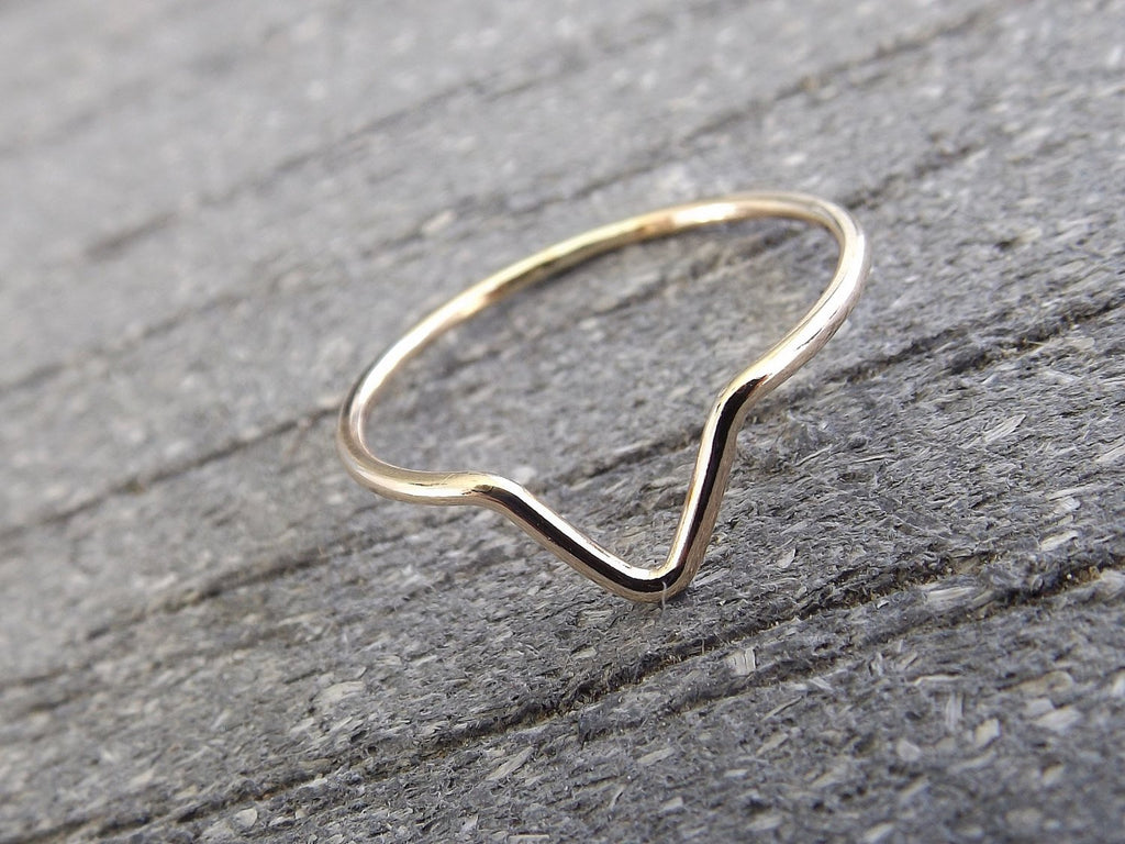 Chevron Ring,Gold Chevron Ring,Simple Traingle Band,Boho Ring,Minimalist Everyday Jewelry,Simple,Gift,Modern Ring,Geometric Ring,Chevron