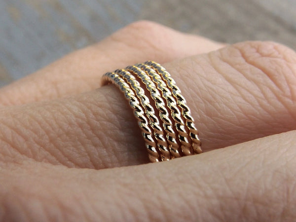 Gold Rope Ring, Stackable Ring, Twisted Ring, Rope Band, Simple Band, Minimalist, Thumb Ring, Simple Ring,Stacker,Boho Chic, Twist Ring