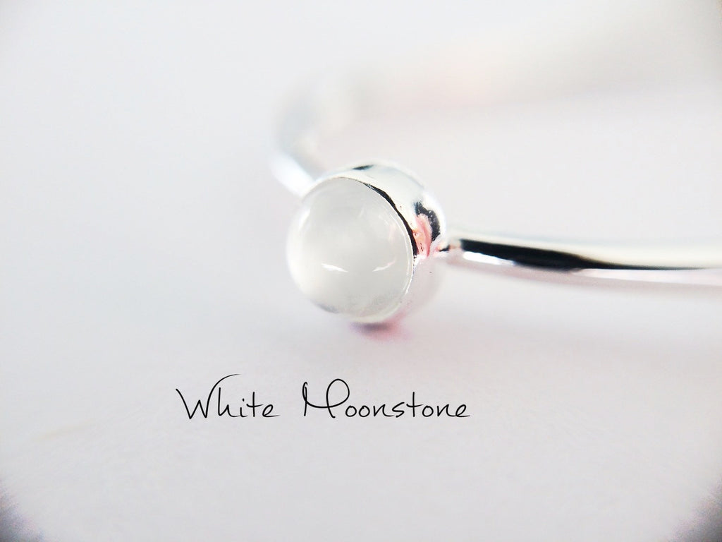 Moonstone Stacking Ring, Moonstone Ring, Engagement Ring, June Birthstone, White Moonstone, Gemstone Stacking Ring, White, Moonstone, Gift