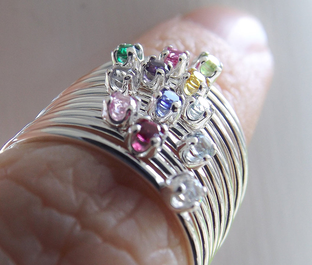 Birthstone Ring, Birthstone Stacking Ring, Tiny Birthstone Ring, Mothers Rings, Stacking Rings, Gemstone Rings, Slim Rings, Stacking Rings