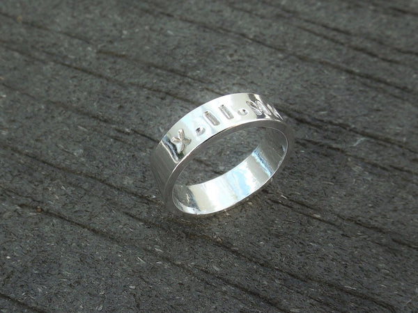 Personalized Date Ring, Custom Roman Numeral Ring, Personalized Wide Date Ring, Anniversary, Wedding Date Ring, His Ring, Family Ring, Gift