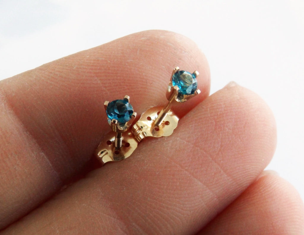 Topaz Earrings, Gold Topaz Earrings, 14k Gold Earrings, Blue Earrings, Topaz Jewelry, Gift, December Birthstone, London Blue Topaz