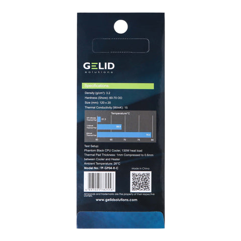 GELID SOLUTIONS GP-ULTIMATE 120×20x 0.5mm THERMAL PAD SINGLE PACK (TP-GP04-R-A)