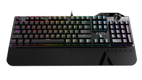 AZIO MGK L80 RGB Mechanical Gaming Keyboard (Brown K-Switch/ RGB Backlight) MGK-L80-01
