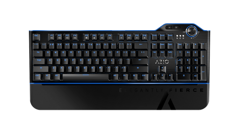 AZIO MGK L80 Mechanical Gaming Keyboard (Blue K-Switch/ Blue Backlight) MGK-L80-03
