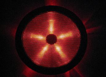 REXFLO Silent Jumbo 250x250x30mm Case Fan with RED LED