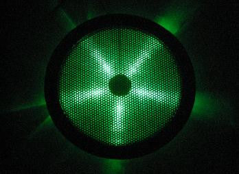 REXFLO Silent Jumbo 250x250x30mm Case Fan with GREEN LED