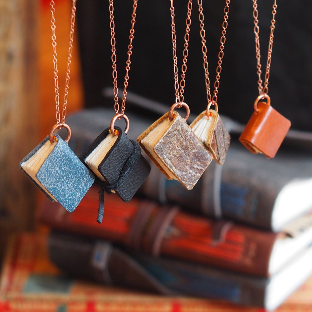 Just Write! Book necklaces & handmade journals