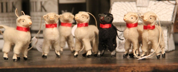 tiny sheep ornaments
