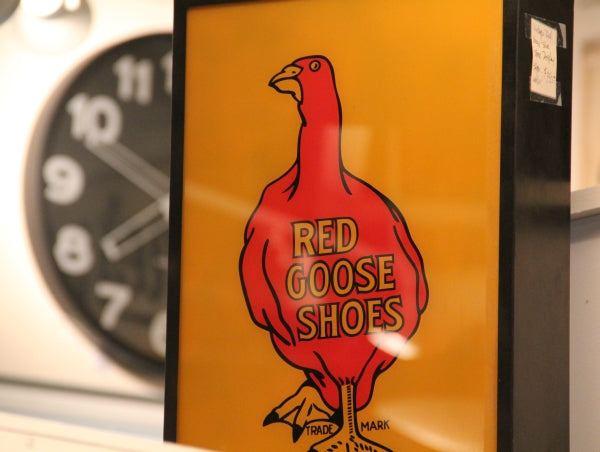 Vintage Red Goose Shoes store sign