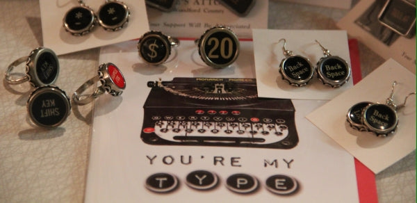 typewriter jewelry at found