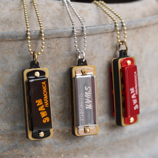 Miniature Harmonica Necklace