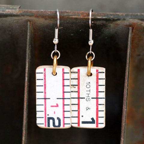 Antique Ruler Earrings