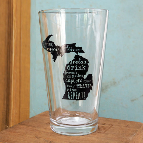 Michigan Pint Glass
