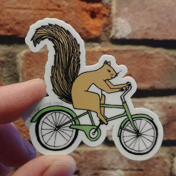 Squirrel On A Bike sticker
