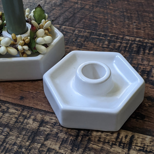Hexagon Ceramic Taper Holder