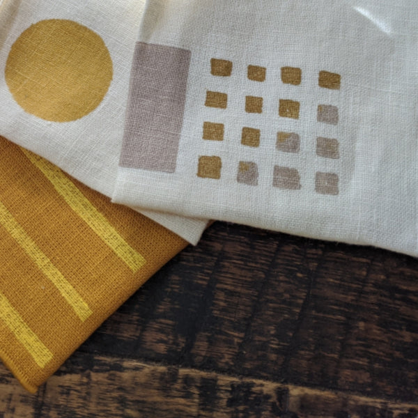 Block Printed Cocktail Napkins - Set of Four