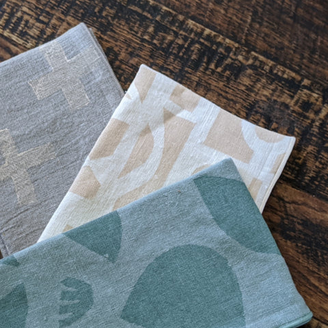 Block Printed Dinner Napkins