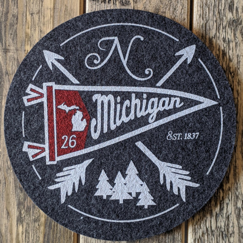Michigan Wool and Cork Trivet