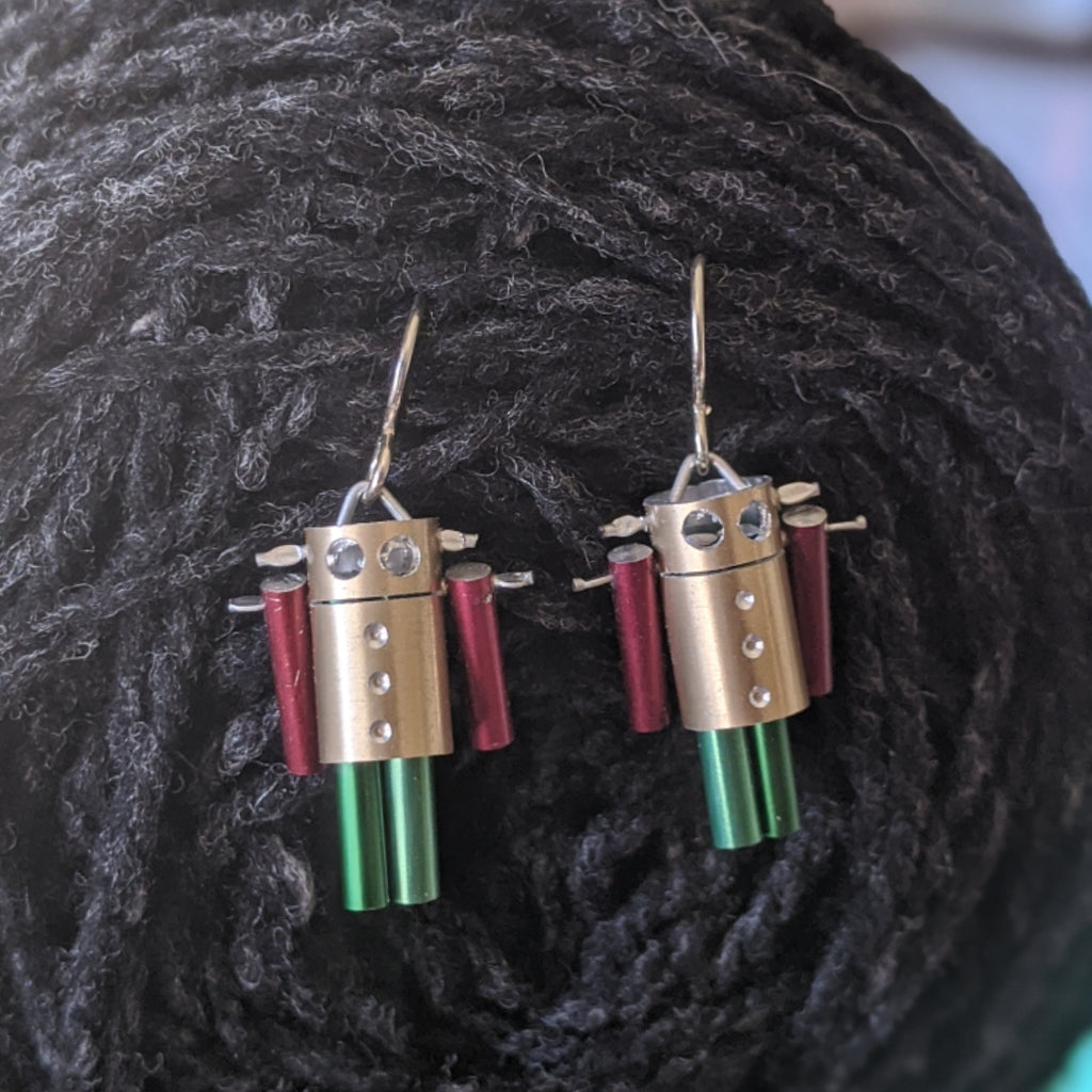 Knit Bot Earrings