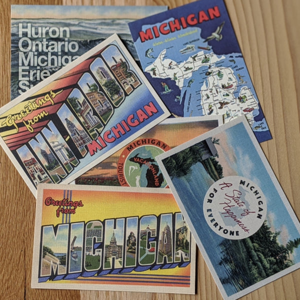 Michigan Theme Postcards