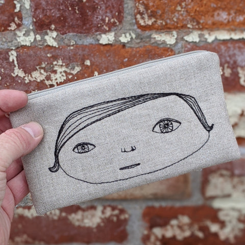 Stitched Cotton Pouch - Hers and His