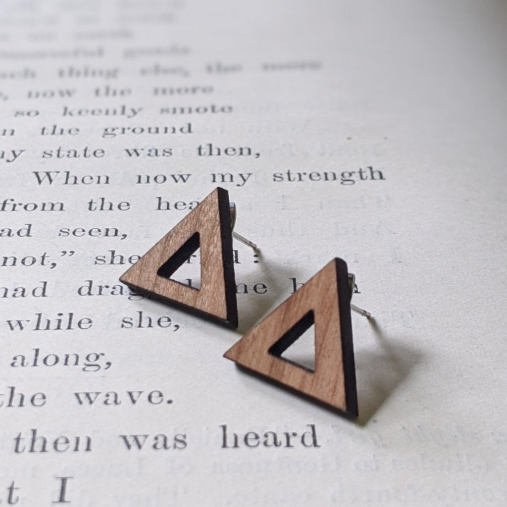 Large Wood Post Earrings