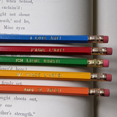 I Love Art Pencil Set