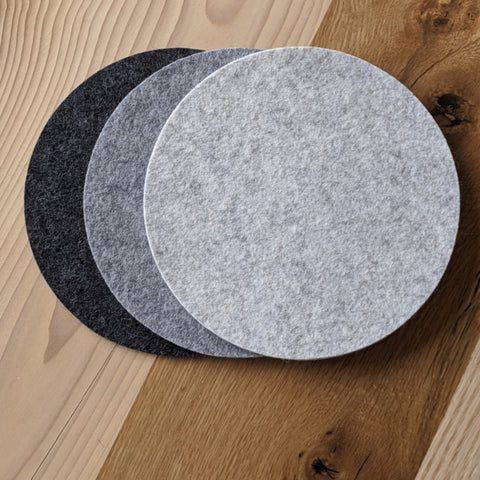 Wool Felt Trivets - Set of Three