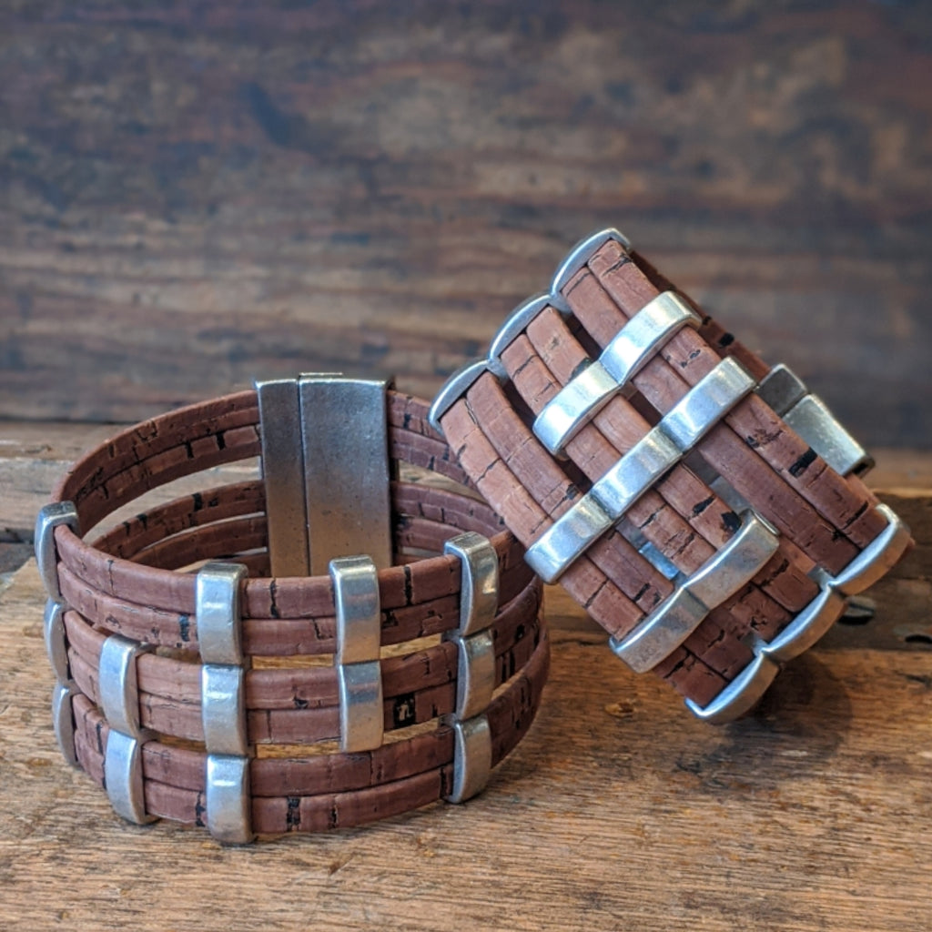 Cork Cuff - Brown