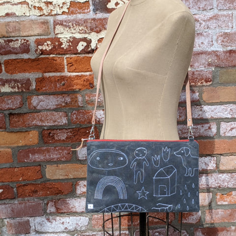 Waxed Canvas Memory Lane Cross Body Bag