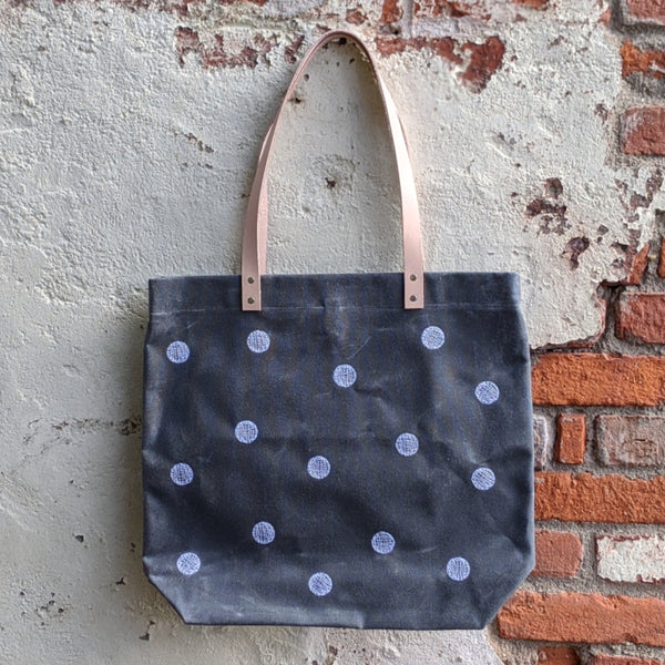 Waxed Canvas Tote - Circles