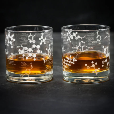 Whiskey Chemistry Rocks Glass Set