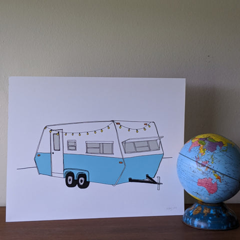 Turquoise Camper Print