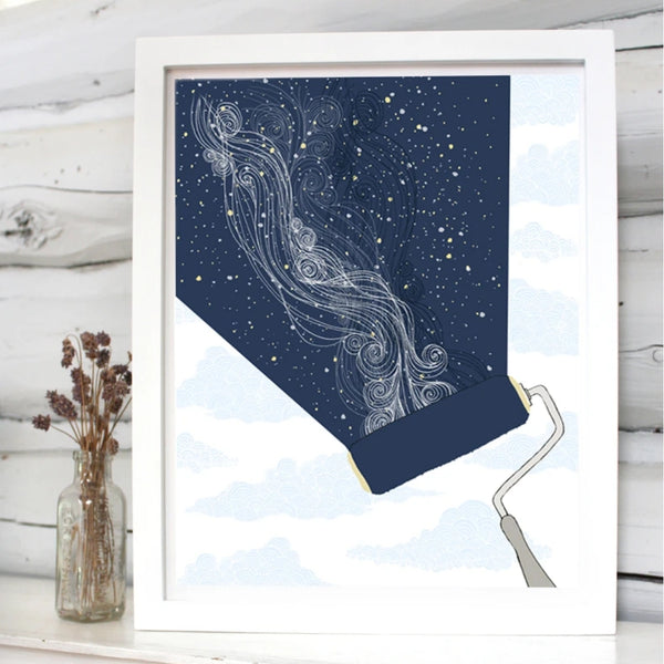 Constellation Paint Roller Print