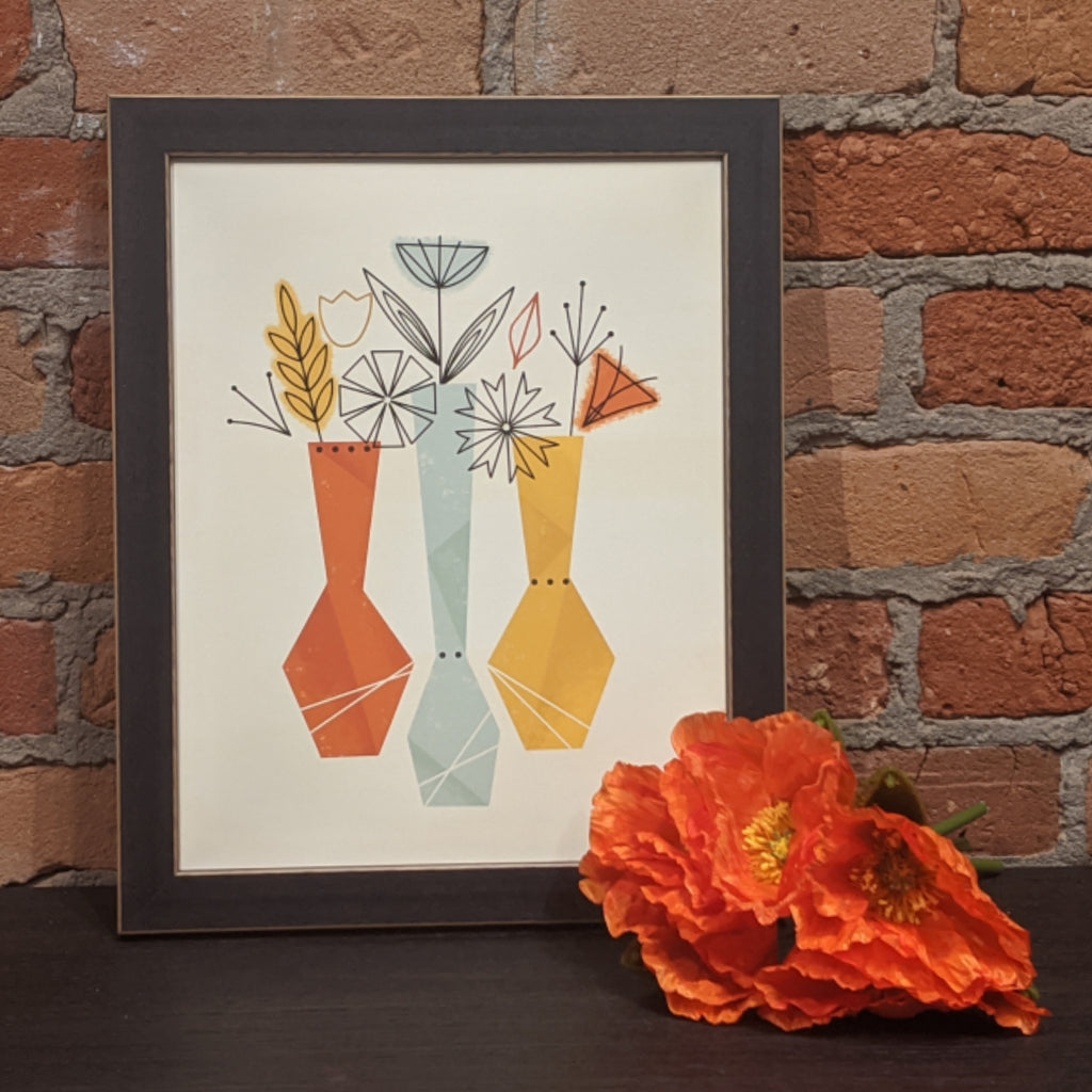 Flower Vases Print - Light