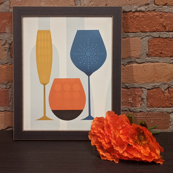 Wine Glasses Print