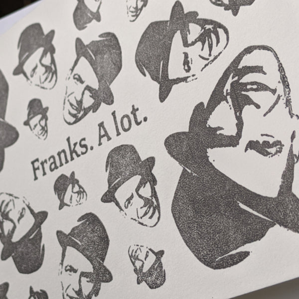 Franks. A lot. Card