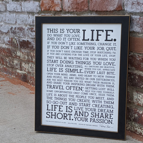 This is Your Life Print - Black on White