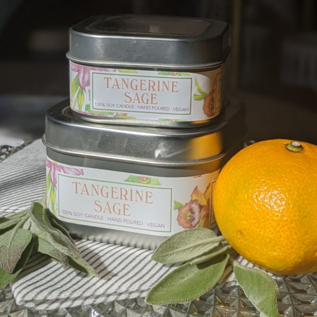 Tangerine Sage Soy Candle