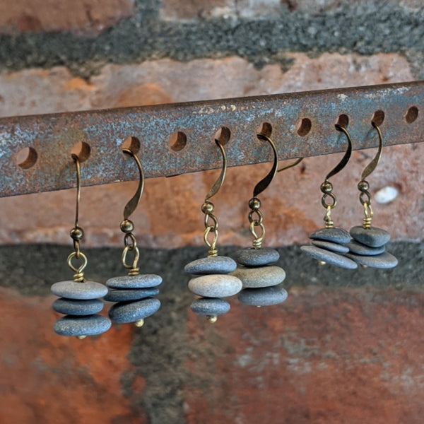 Stacked Rock Cairn Earrings