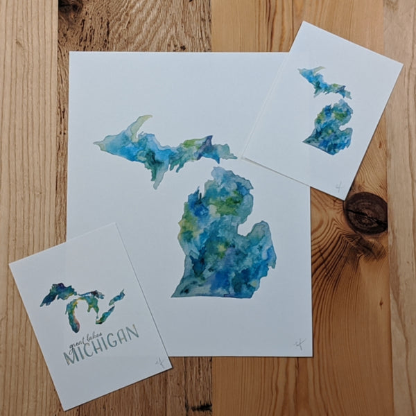 Michigan Watercolor Prints