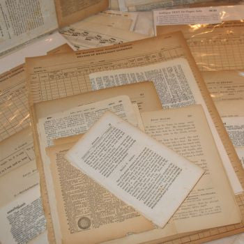 Assorted Vintage Papers & Documents Set
