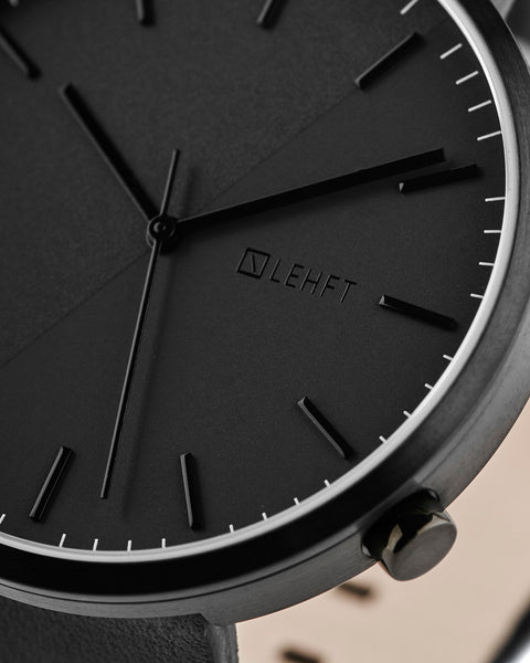 All Black Edition - LEHFT Minimalist Watches - 3